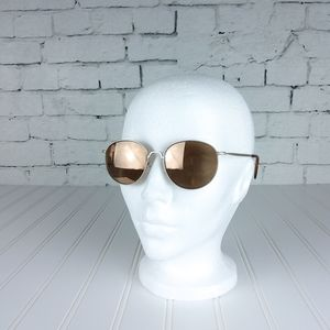 Joe's Jeans Round Wire Frame Sunglasses Pearl